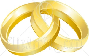 11891-Two-Entwined-Golden-Wedding-Rings-Clipart-Picture